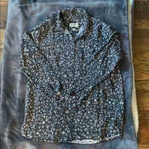 Button up/flannel with flowery designs